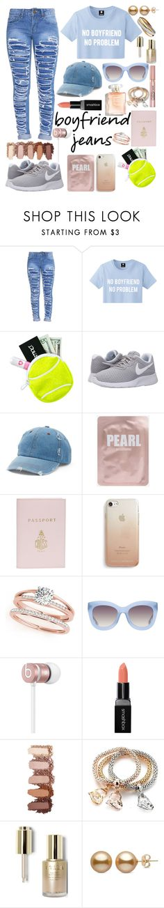 """""""101% over you😎"""" by kacitomlin ❤ liked on Polyvore featuring Lazy Oaf, NIKE, Mudd, Mark Cross, Rebecca Minkoff, L'Oréal Paris, Alice + Olivia, Beats by Dr. Dre, Smashbox and Stila"""