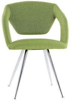 kika Sessel Sally Stoff grün Gestell Metall verchromt Speisen max. Belastbarkeit ca. 100 kg