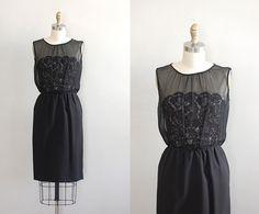 1950s dress / 50s dress / Past Perfect dress. $158.00, via Etsy.