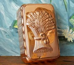 Solid Copper Jello Mold Wheat Stalks by cynthiasattic on Etsy, $24.00