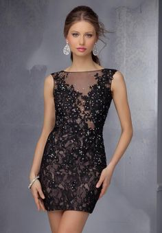 Mori Lee Sticks & Stones Lace Fitted Dress 9296