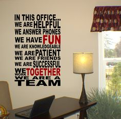 Shown here with our black #70 color and optional second color of garnet #30. <br /> <br />Wall decals are precision cut adhesive vinyl words and designs that are applied to walls and other surfaces. Our decals are 100% removable, and look like they've been professionally painted once they're installed. Our wall quotes, words, designs, and artwork are%...