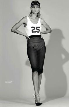 #JessicaStam by #AlexeiHay for #LOfficielMexico June 2014 || black x white