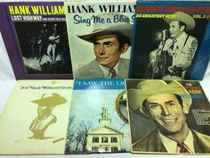 Hank Williams LP Vinyl #Records Lot: I Saw the Light + The Unforgettable + +++