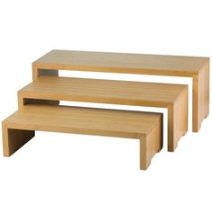 Enhance your buffet presentation with Cascade Risers™ from TableCraft®. This riser set features beautiful bamboo wood that will complement any decor. Bamboo Furniture, Diy Furniture, Luxury Furniture, Antique Furniture, Modern Furniture, Furniture Removal, Furniture Storage, Wood Display, Display Shelves