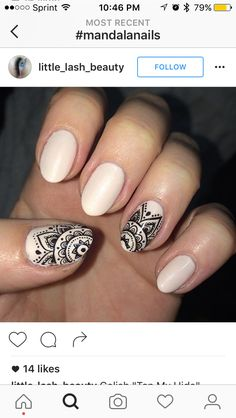 Gel Nail Art, Gel Nails, Nail Polish, Henna Nails, Fall Nail Trends, Mandala Nails, Elegant Nail Art, Soft Nails, Tribal Nails