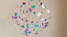 Baby Mobiles, Baby Shower Gift, Baby Girl Decor, Hanging Art Mobiles, Butterfly Mobiles, Purple Nursery Decor