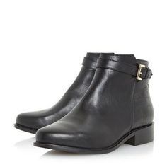 e65e8f77627 Update your everyday look with this Dune wide fit buckled ankle boot.  Featuring side zip