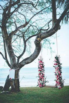 Floral Heaven in Beachside Thailand Wedding - MODwedding