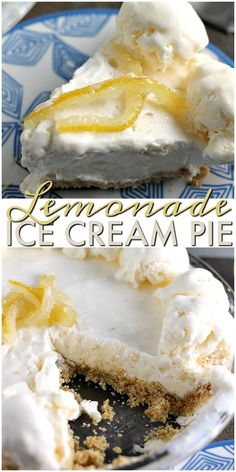 Lemonade Ice Cream Pie is nearly no bake (it can be if you take a shortcut with store bought crust!) and perfect for hot summer days. The tart lemonade flavor is balanced by the sweet graham cracker crust and creamy ice cream base. |Persnickety Plates