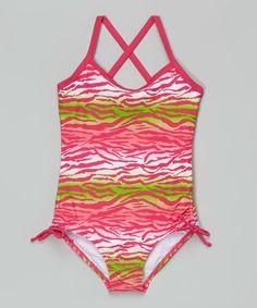 Another great find on #zulily! Pink Zebra Malea One-Piece - Infant, Toddler & Girls #zulilyfinds