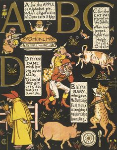 The Absurd ABC by Walter Crane - British Library Prints