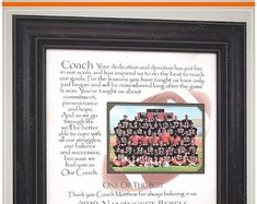 End of Season Team Gift for Football Coach Wedding Gifts For Parents, Wedding Gifts For Bride, Gifts For Father, Anniversary Party Decorations, 50th Anniversary Gifts, Team Gifts, Coach Gifts, Coach Appreciation Gifts, Handmade Wedding Gifts