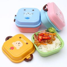 Cartoon 2 Layer Dinnerware Sets Double Tier Lunch Box //Price: $11.99 & FREE Shipping //     #freeshipping