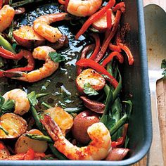 Smoky Spanish-Style Pan Roast - healthy and very flavor.  I've easily substituded different vegetable and protein combinations with the same sauce for great results.