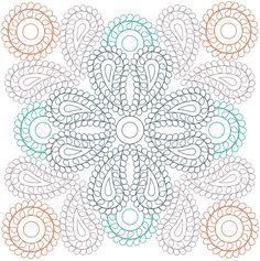 Creative Haven PAISLEY MANDALAS <> Designs with a Splash of Color <> COLORING PAGE 1