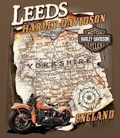 Some cool custom map art made for #leeds #harleydavidson #acrossthepond . . . . #yorkshire #england #bikerart #wisconsinartist #apparelart #bikerlife #eurobiker #instartist #branding #illustration #graphicdesign