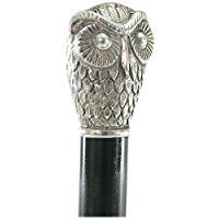 Cavagnini ''Owl'' decorative walking stick hand made in Italy