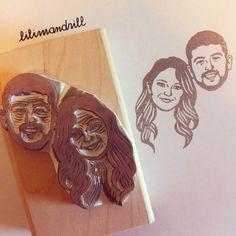 Custom Portrait Stamp @lilimandrill www.lilimandrill.fr #etsy #coupleportrait #EtsyGifts #bachelorette #etsywedding #wedding #mariage #bride #diy #couple #stamp #giftforcouple #handmade #gift #weddinggift #invitations #invites #party #engagement #bride