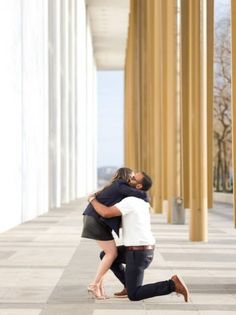 This surprise Kennedy Center proposal created amazing on the spot engagement photos. Featuring a calligraphy cake & beautiful solitaire ring. Surprise Engagement, Wedding Engagement, Engagement Session, Engagement Photos, Now What, Marriage Proposals, Wedding Advice, Getting Engaged, Ring