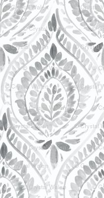 Bohemian Foli gray custom wallpaper by crystal_walen for sale on Spoonflower Dining Room Wallpaper, Wallpaper Ceiling, Bathroom Wallpaper, Wallpaper For Walls, Bold Wallpaper, Glitter Wallpaper, Wallpaper Ideas, Peel And Stick Wallpaper, Bohemian Wallpaper