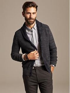 Heritage Shawl-Collar Cardigan | Banana Republic  Looking for cardigan - not sure about the collar