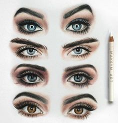 The different models of eyes *painting*