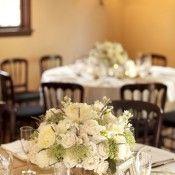 White Round Wedding Centerpieces