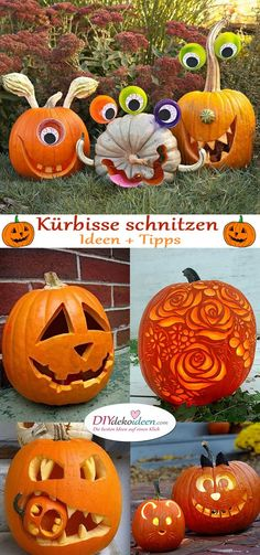 Anleitungen zum Kürbis schnitzen – Tolle DIY Ideen und Tipps You are in the right place about beauty tips for skin Here we offer you the most beautifu Fall Arts And Crafts, Halloween Crafts For Kids, Diy Crafts For Kids, Halloween Pumpkins, Halloween Diy, Halloween Decorations, Kids Diy, Summer Crafts, Christmas Crafts