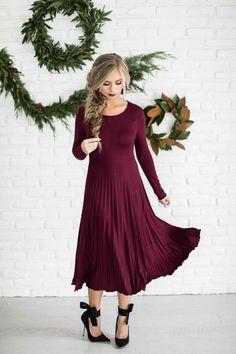 Pleated Holiday Dress