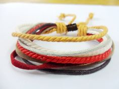 Adjustable Multicolour Cotton Ropes and soft by sevenvsxiao, $3.50