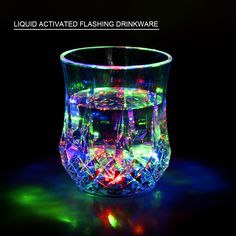 Liquid Activated LED Flashing Color Cup This is a functional LED flashbale drinking glass. When you having a party with friends, this glass will bring you wonderfull happiness! Enyoy it.