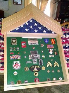 Custom military shadow box display