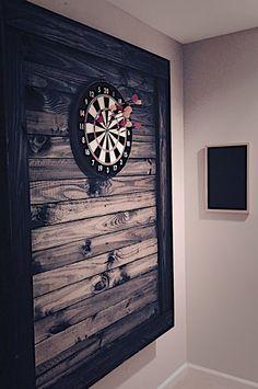My homemade dart board backer made from scrap wood – Game Room İdeas 2020 Garage Game Rooms, Game Room Basement, Garage Bar, Basement House, Man Cave Room, Man Cave Home Bar, Pool Table Room, Game Room Bar, Basement Makeover
