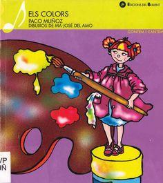 """Paco Muñoz / Mª José del Amo. """"Els colors"""". Edicions de Bullent. (3 a 6 anys). Està a la biblio. Comic Books, Comics, Cover, Lyrics, Cartoons, Cartoons, Comic, Comic Book, Comics And Cartoons"""