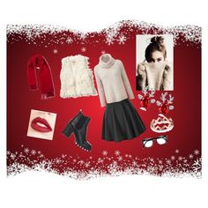 """""""Christmas time ❄❄❄"""" by luciarakoczyova on Polyvore featuring Barneys New York, Hollister Co. and Jouer"""