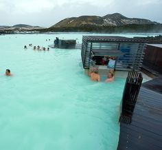 This hot-springs resort in Iceland is aptly named the Blue Lagoon.  Source: Robert Hoetink / Shutterstock.com