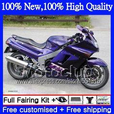 decal+ For KAWASAKI NINJA ZX11 ZZR1100   36#29 Purple black ZX11R ZZR 1100 ZX 11  90 91 92 1990 1991 1992 Fairing Purple black #Affiliate