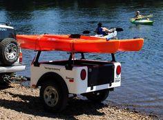 Dinoot trailers make great lightweight kayak haulers for paddling or kayak fishing.