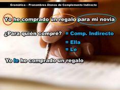Gramática - pronombres átonos de complemento indirecto