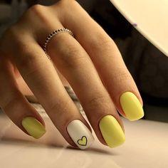 23 Great Yellow Nail Art Designs 2019 - Yellow Nails Design - Best Nail World Cute Nail Art, Cute Nails, Pretty Nails, My Nails, Yellow Nails Design, Yellow Nail Art, Best Acrylic Nails, Nagel Gel, Perfect Nails