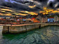 Cellardyke harbour in Fife