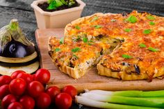 Fresh Brunch Recipe: Eggplant Quiche with Onions and Leeks     Try ready made pie crusts.