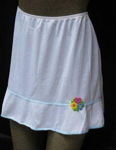 Vintage Sears Roebuck mini-skirt slip.........