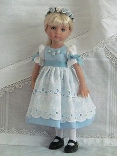 "13"" Effner Little Darling BJD Fashion Blue White OOAK Set Handmade by JEC 