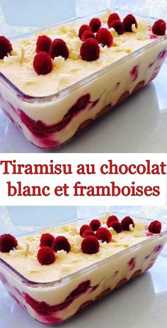 Tiramisu au chocolat blanc et framboises A variant of the traditional tiramisu, very pleasant for the summer! One of my favorite desserts … Vegan Fruit Cake, Rum Fruit Cake, Chocolate Fruit Cake, Fresh Fruit Cake, Chocolate Recipes, Easy Cake Recipes, Dessert Recipes, Easy No Bake Cheesecake, Classic Cheesecake