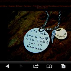 personalized necklace for my baby boy Pierce that passed away.