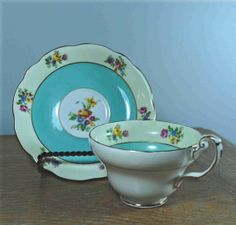 Foley English Bone China Tea Cup and Saucer