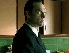 excited, Hugo Weaving, Agent Smith, The Matrix