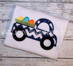 easter egg truck 2 by applique momma Applique Patterns, Applique Designs, Embroidery Designs, Applique Momma, Transportation Design, Easter Eggs, Machine Embroidery, My Photos, My Etsy Shop